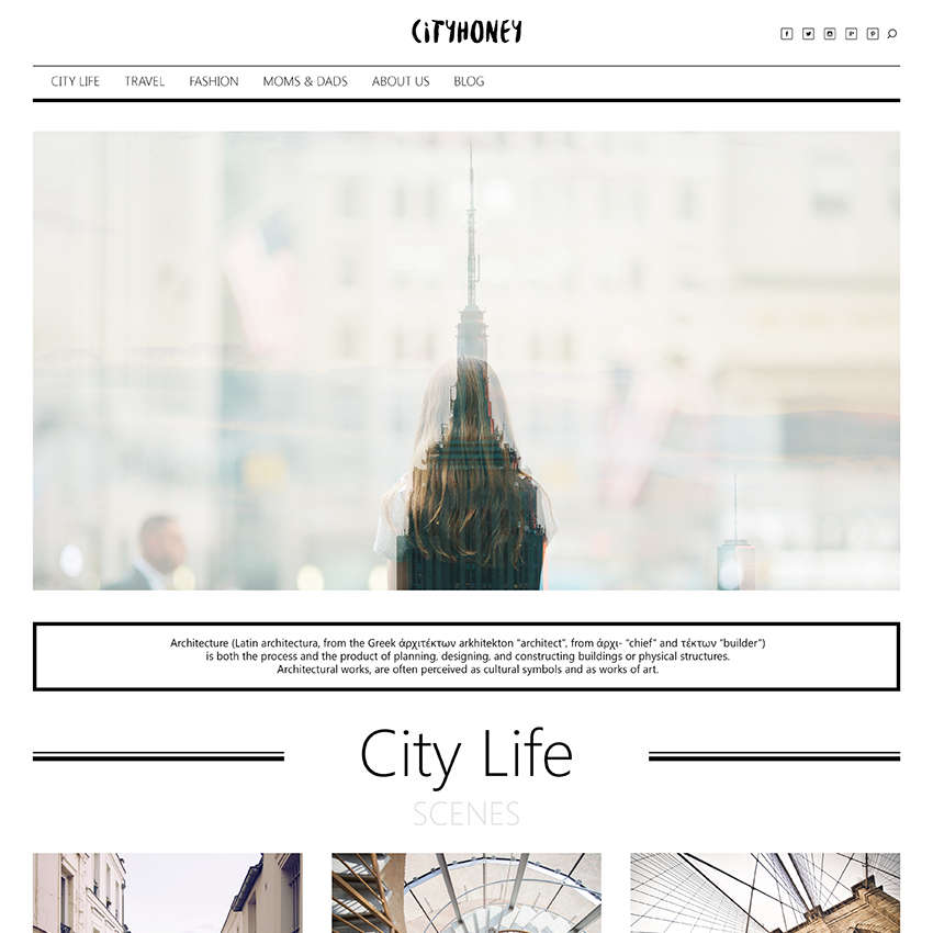 City Honey Magazine  Web Design
