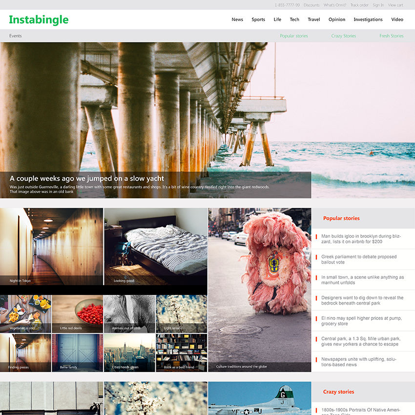 Instabingle Web Design